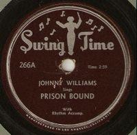 Cover Johnny Williams [John Lee Hooker] - Prison Bound